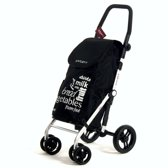 Carlett Boodschappentrolley LETT450 zwart 4 wielen - 40 L inhoud