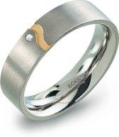 Boccia Titanium 0147.04 ring - Titanium - Zilver en goudkleurig
