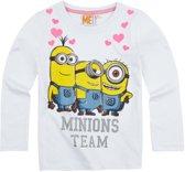 Minions-T-shirt-met-lange-mouw-wit-maat-152