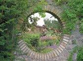 Tuinposter doorkijk geheime tuin bloemen