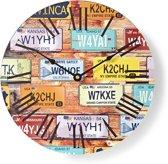 Ronde wandklok  | Diameter 30 cm | Travel-thema
