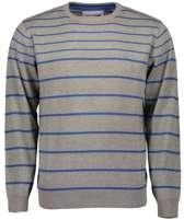 Blue Seven heren trui grijs/blauw gestreept - maat M
