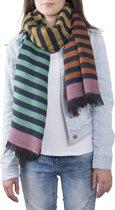 Clayre & Eef Sjaal stripes 68x180 cm