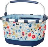 Reisenthel draagtas, boodschappentas, carrybag blauw met blomen