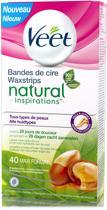 Veet Natural Inspirations Waxstrips Benen & Lichaam Maxi-formaat - Ontharingsstrips - 40 stuks