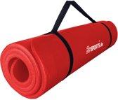 ScSPORTS® Fitnessmat Sportmat met draagriem 185 x 60 x 1 cm rood