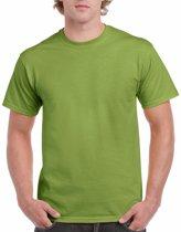 Kiwigroen katoenen shirt voor volwassenen L (40/52)