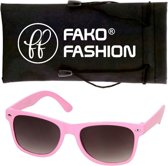 Fako Fashion® - Kinder Zonnebril - Duo - Roze/Wit