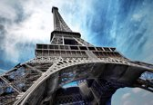 Fotobehang Eiffel Tower Paris  | DEUR - 211cm x 90cm | 130g/m2 Vlies