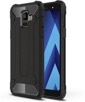 Armor Hybrid Hoesje Samsung Galaxy A6 (2018) - Zwart
