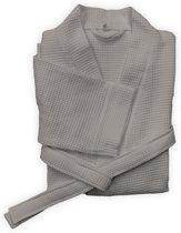Heckett & Lane - Badjas Wafel Lang XL Taupe Grey