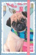 Notitieboek Hond Studio Pets - By Myrna - Sluiting Elastiek - 9,5 x 14 x 1,3 cm