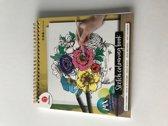 schets kleurboek- volwassen kleuren - kleurboek -kleuren - kleuren voor volwassenen