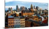 Uitzicht op de skyline van Cincinnati in de Verenigde Staten Aluminium 160x80 cm - Foto print op Aluminium (metaal wanddecoratie)