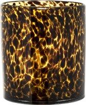 Bloomingville - Bloempot - Glas - Amber/Zwart