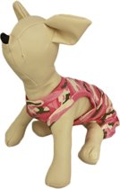 Camouflage jurkje roze voor de hond - XS ( rug lengte 20 cm, borst omvang 28 cm, nek omvang 22 cm )