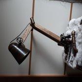 Houten ijzeren lamp 62cm hoog