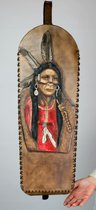 Rug koker, Quiver met Native American snijwerk