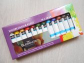 Watercolour paint - Aquarelverf - 12 x 12 ml - Van Bleiswijck Holland - Verfset