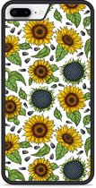 iPhone 8 Plus Hardcase hoesje Sunflowers
