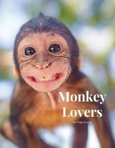 Monkey Lovers 100 page Journal: Large notebook journal with 3 yearly calendar pages for 2019, 2020 and 2021 Makes an excellent gift idea for birthdays