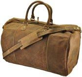 GreenBurry Topeka - ruime reistas/sporttas van vintage bruin ecoleer