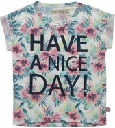 Minymo - meisjes shirt - have a nice day - grijs - Maat 116
