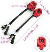 2pcs D2S D2C C2R D4S D4C D4R Xenon HID Bulb Socket Cable Adaptor Harness SP2G