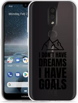 Nokia 4.2 Hoesje Goals are for Men