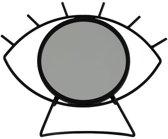 Spiegel Eye See You - Zwart - Metaal - 25 x 30 x 4 cm