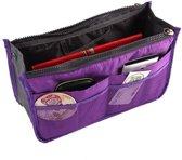 Bag in bag hand tas organizer – houd uw (hand) tas netjes en geordend! - 28cm * 9cm * 16.5cm – paars