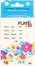 FLWR - Inktcartridge /932/933 XL 4-pack Zwart&Kleur - Geschikt voor HP