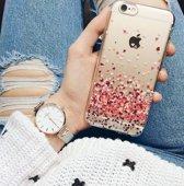 Lovebay Hoesje iPhone 5, 5S, SE - Rode Hartjes