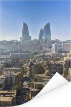 Heldere dag in het Aziatische Bakoe in Azerbeidzjan Poster 40x60 cm - Foto print op Poster (wanddecoratie woonkamer / slaapkamer)