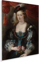 Portret van een vrouw - Schilderij van Peter Paul Rubens Plexiglas 60x80 cm - Foto print op Glas (Plexiglas wanddecoratie)