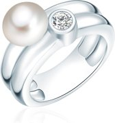 Valero Pearls parel Ring - Sterling zilver - zilver