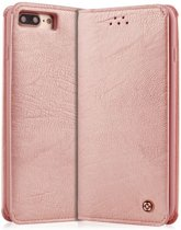 Hoesje voor iPhone 7 / iPhone 8 (4,7 inch)  book case wallet gentleman series met 2 pasjes Rose Goud