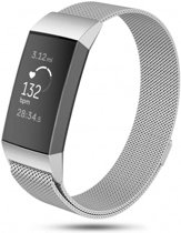 123Watches.nl Fitbit charge 3 milanese band - zilver - ML
