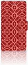 Huawei Y3 2017 Uniek Boekhoesje Batik Red
