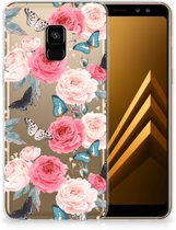 Samsung Galaxy A8 Plus (2018) TPU Case Butterfly Roses