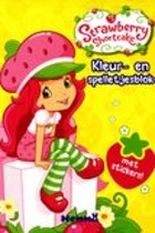 KLEUR- EN SPELLETJESBLOK MET STICKERS ! - STRAWBERRY SHORTCAKE