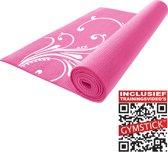 Gymstick Fitnessmat - 172 x 60 cm - Roze