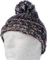 Gelert Women s Leigh Bobble Hat - Dames Muts - Zwart Wit Paars c3c399ae8128