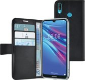 Azuri walletcase - magnetic closure & 3 cardslots - zwart - Huawei Y6 (2019)