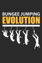 Bungee Jumping Evolution: Extremsport Junkie Notizbuch liniert DIN A5 - 120 Seiten f�r Notizen, Zeichnungen, Formeln - Organizer Schreibheft Pla