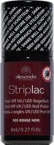 Alessandro Striplac - nr. 905 Rouge Noir - 8 ml - Gel nagellak