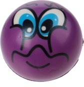 Toi-toys Bal Funy Face 8 Cm Paars