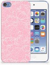 Apple iPod Touch 5 | 6 TPU Hoesje Design White Flowers