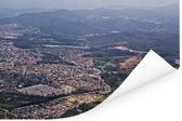 Luchtfoto van de stad Guarulhos in Zuid-Amerika Poster 180x120 cm - Foto print op Poster (wanddecoratie woonkamer / slaapkamer) XXL / Groot formaat!