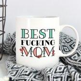Mok met tekst Best Fucking Mom